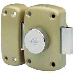 Verrou de sureté bouton et cylindre série Cyclop - 40 mm bronze de marque VACHETTE, référence: B3657700
