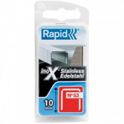 Agrafe inox n°53 - 8 mm par 1080 de marque RAPID, référence: B3701300