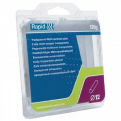 Colle multi-usage Ø 12 mm - 94 mm transparente de marque RAPID, référence: B3711500