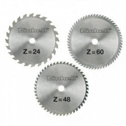 Jeu de 3 lames de scie TCT (24, 48 et 60 dents) - Ø 250 x Ø 30 x 3,0 mm de marque EINHELL , référence: B3896800
