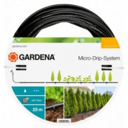 Tuyau à goutteurs incorporés de surface Micro-Drip - 25 m-  4 l/h de marque GARDENA, référence: J3925400