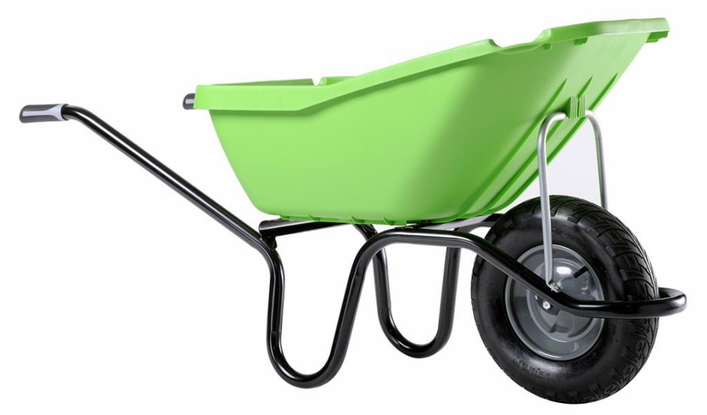 Brouette Pick Up 110 verte roue gonflée