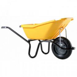 Brouette Pick Up 110 jaune roue gonflée de marque HAEMMERLIN, référence: J3927800