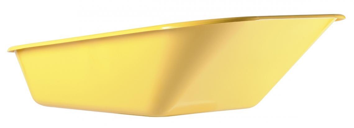 Caisse de brouette peinte jaune 100 L - 4 trous renforcée