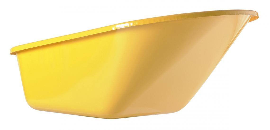 Caisse de brouette peinte jaune 110 L - 4 trous