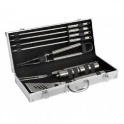 Valisette 9 pièces : fourchette, pince, spatule, 4 pics, sel & poivre de marque COOK'IN GARDEN, référence: J3961500