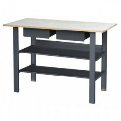 Établi métal 2 tiroirs+2plateaux 1.20x0.60 m de marque OUTIFRANCE , référence: B3988600