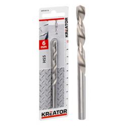Foret métaux HSS Ø 3,2x65mm de marque Kreator, référence: B4013800