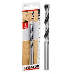 Mèche spéciale bois Ø 6x93mm de marque Kreator, référence: B4021200