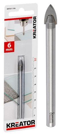 Mèche à verre et faïence Ø 6mm