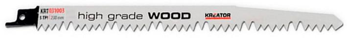 Lame de scie sabre à bois HCS 230 mm - 2 pièces
