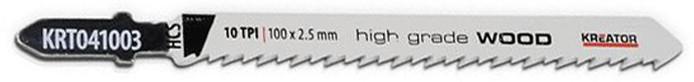Lame de scie sauteuse à bois HCS coupe précise (pas 2,5mm) - 2 pièces