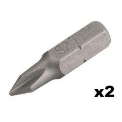 Embout de vissage Cruciforme n°2 (25mm) - 2 pièces de marque Kreator, référence: B4034300