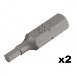 Embout de vissage hexagonal n°3 (25mm) - 2 pièces de marque Kreator, référence: B4034500