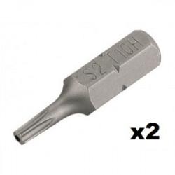 Embout de vissage Torx Tamper T10 (25mm) - 2 pièces de marque Kreator, référence: B4035000