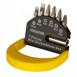Jeu de 6 embouts de vissage (Torx 25mm) avec son porte-embouts de marque Kreator, référence: B4036400