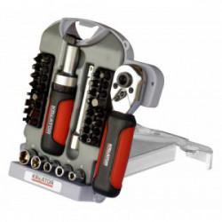Coffret de 40 pièces : embouts, douilles et accessoires de marque Kreator, référence: B4036800