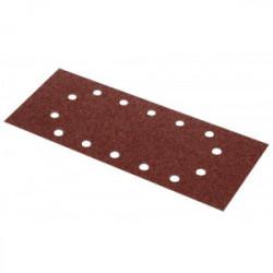 Lot de 5 patins perforés (oval) - grain 80 - 115 x 280 mm de marque Kreator, référence: B4045500