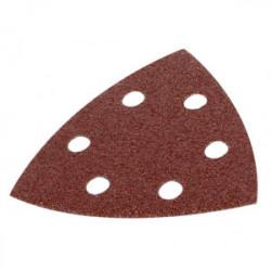 Lot de 5 patins triangulaires auto-agrippants - grain 80 - 90x90x90 mm de marque Kreator, référence: B4046100