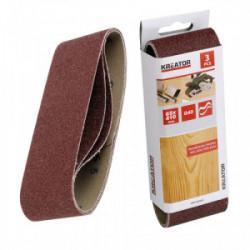 Lot de 3 bandes de ponçage - grain 120 - 65 x 410 mm de marque Kreator, référence: B4050300