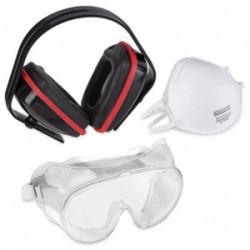 Kit protection - masque/antibruit/lunettes de marque Kreator, référence: B4057700