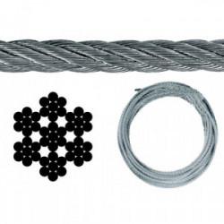 Câble acier 4mm pour treuil de marque OUTIFRANCE , référence: B4090500