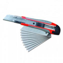 Cutter bi-matière 25 mm avec 10 lames de marque OUTIFRANCE , référence: B4090900