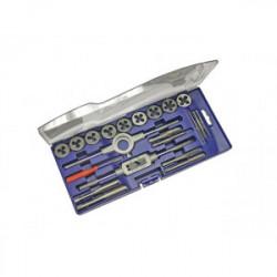 Coffret plastique de tarauds et filières 21 pièces de marque OUTIFRANCE , référence: B4115100