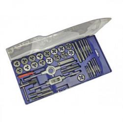 Coffret plastique de tarauds et filières 39 pièces de marque OUTIFRANCE , référence: B4115200