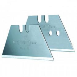 Lot de 5 lames trapèze courtes non perforées 50 mm de marque STANLEY, référence: B4125000