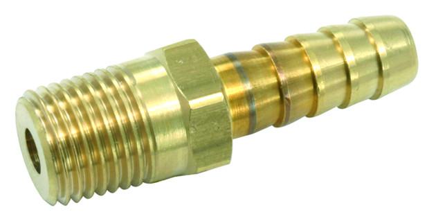 Jonctions pour tuyaux - filetage 1/4 mâle et cannelé pour tuyan Ø 8 mm (2p)