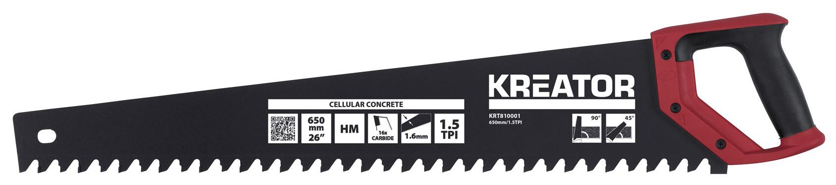 Scie égoïne à beton cellulaire 650 mm