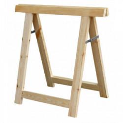 Tréteau industriel en bois 80x80 cm de marque OUTIFRANCE , référence: B4171300