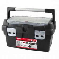 Boîte à outils avec 1 casier et poignée 45 cm de marque OUTIFRANCE , référence: B4175600