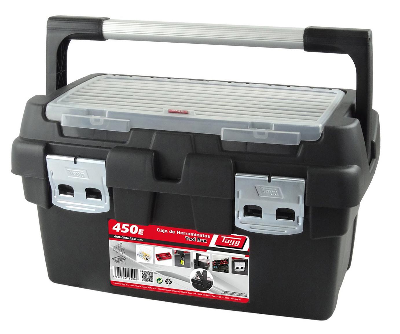 Boîte à outils avec 1 casier et poignée 45 cm