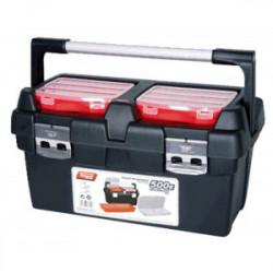 Boîte à outils avec 2 casiers et poignée 60 cm de marque OUTIFRANCE , référence: B4175800