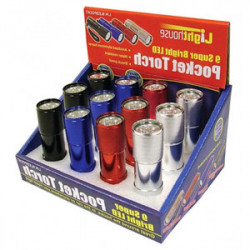 Mini lampes torche à 9 LEDs de marque OUTIFRANCE , référence: B4182100