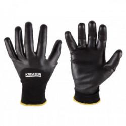 Gants de protection noirs - taille 10 de marque Kreator, référence: B4188800