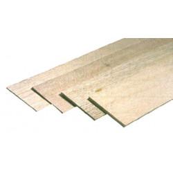 Planche balsa épaisseur 1.5 x100x1000 mm de marque MAXICRAFT, référence: B4199200