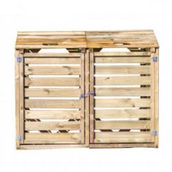 Cache poubelle bois autoclavé DOUBLE de marque HABRITA, référence: J4212800