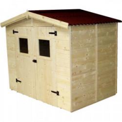 Abri en panneaux de bois - 3,70 m² de marque HABRITA, référence: J4214300