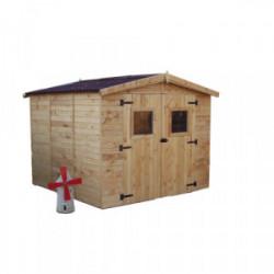 Abri en panneaux de bois - Surface utile 5,60 m² de marque HABRITA, référence: J4214500
