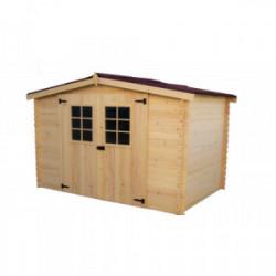 Abri en madriers massifs - 4,59 m² de marque HABRITA, référence: J4214700