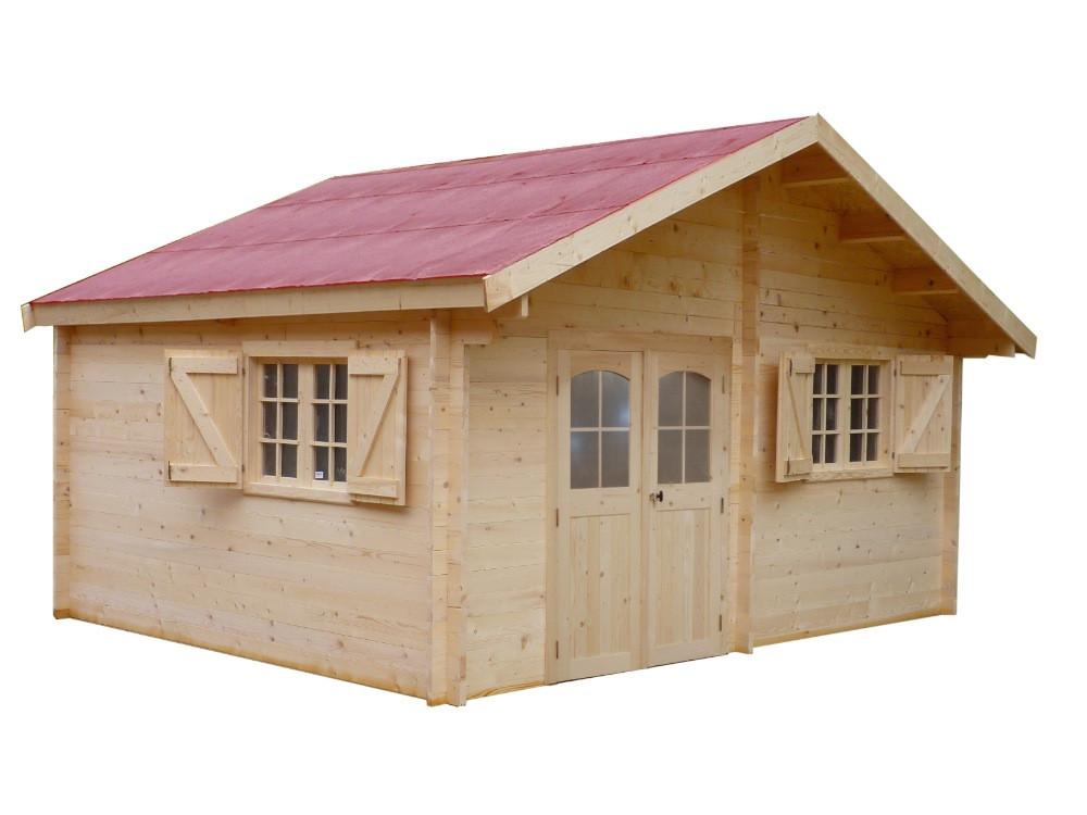 Abri en madriers massifs façon chalet - 17,52 m²