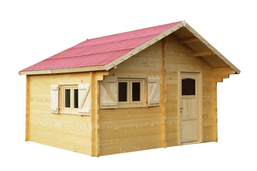 Abri fenêtré en madriers massifs - 17,22 m²