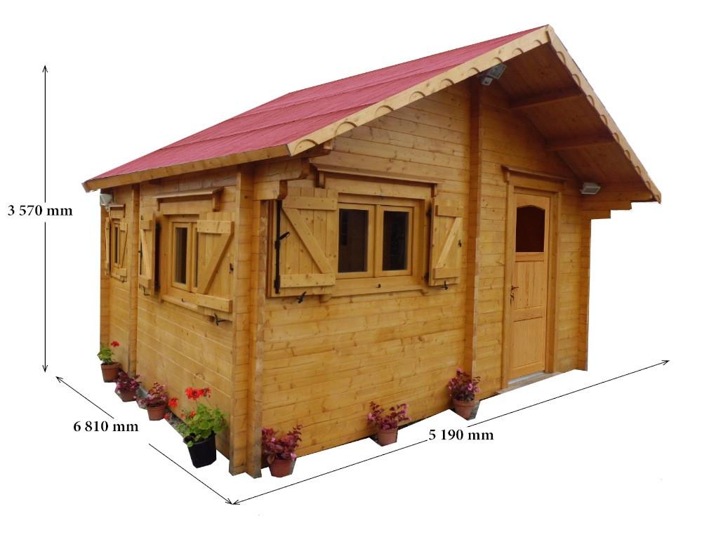 Abri en madriers massifs façon chalet - 26,58 m²