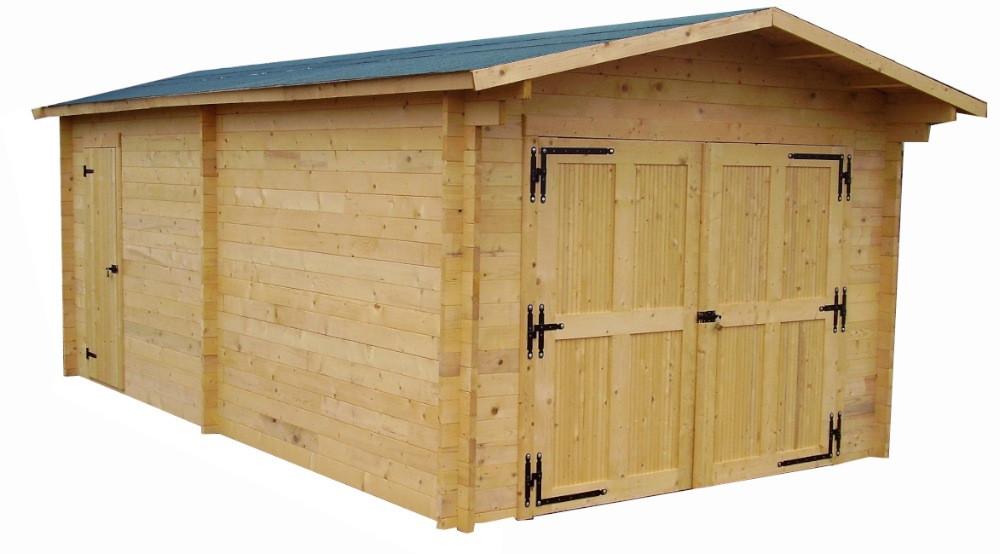 Garage en madriers massifs - 19,03 m²