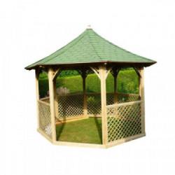 Pavillon de jardin de luxe - Octogonal / 8,78 m2 de marque HABRITA, référence: J4217500