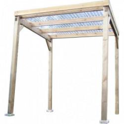 Carport en bois autoclavé toit plat couvert de marque HABRITA, référence: J4217900