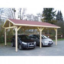 Carport double pente - DOUBLE / couverture bardeau bitumé de marque HABRITA, référence: J4219500